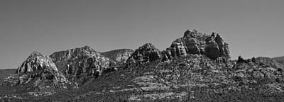 Photograph - Sedona Arizona Panorama II Bw by David Gordon