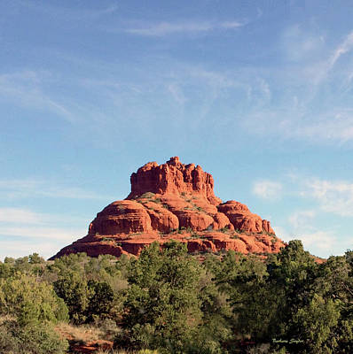 Photograph - Sedona Arizona Red Rock Formation by Barbara Snyder