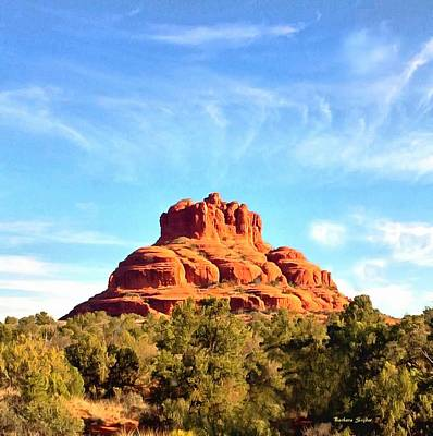 Photograph - Sedona Arizona Red Rock Formation Painting by Barbara Snyder