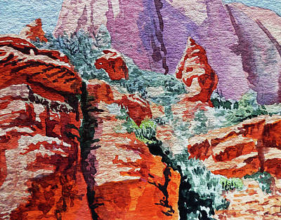 Painting - Sedona Arizona Rocky Canyon by Irina Sztukowski