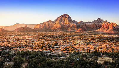 Photograph - Sedona At Sunset by Alexey Stiop