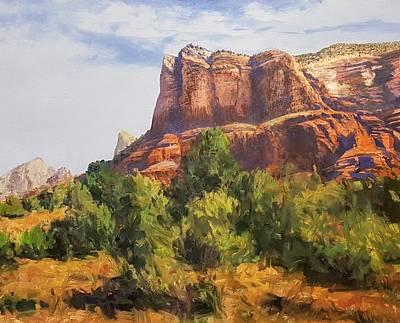 Painting - Sedona At The Red Rocks Afternoon by Jessica Anne Thomas