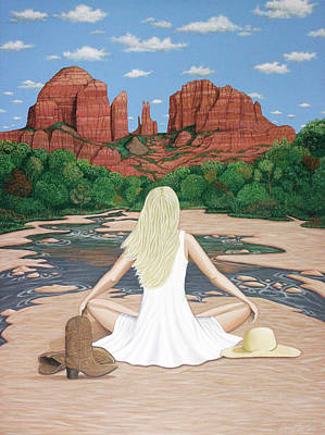 Cathedral Rock Painting - Sedona Breeze  by Lance Headlee