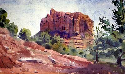 Sedona Butte Art Print by Donald Maier