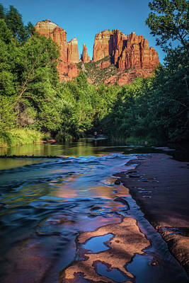 Photograph - Sedona Castle Rock At Sunset by Levin Rodriguez