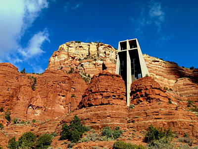 Raw Sienna Photograph - Sedona Chapel Of The Holy Cross by Cindy Wright