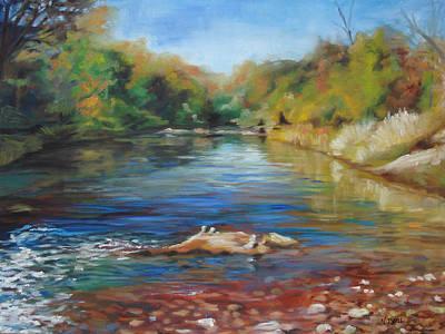 Painting - Sedona Creek by Nancy Isbell
