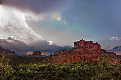 Desert Sunset Photograph - Sedona Drama by Dave Dilli