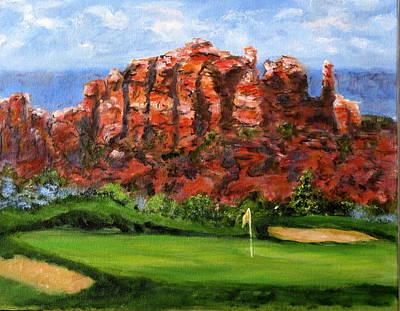 Sedona Golf Art Print by Thomas Restifo