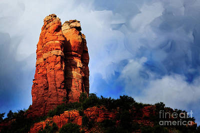 Observer Photograph - Sedona Guardians Textured by Billy Bateman