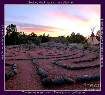 Photograph - Sedona Labyrinth Sunset by Marlene Rose Besso