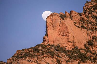 Mauverneen Blevins Photograph - Sedona Moon  by Mauverneen Blevins