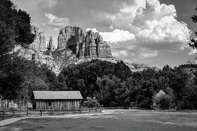 Abstract Male Faces - Sedona Mountain Landscape - Monochrome Edition by Gregory Ballos