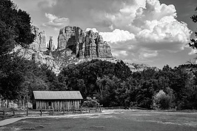 Photograph - Sedona Mountain Landscape - Monochrome Edition by Gregory Ballos