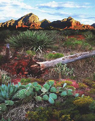 Sedona Mountain Sunrise Art Print