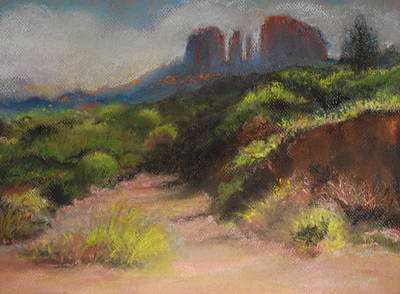 Pastel - Sedona Pathway by Sandra Lee Scott