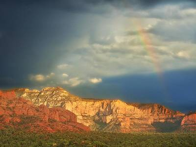 Photograph - Sedona Rainbow 2 by Lorella Schoales