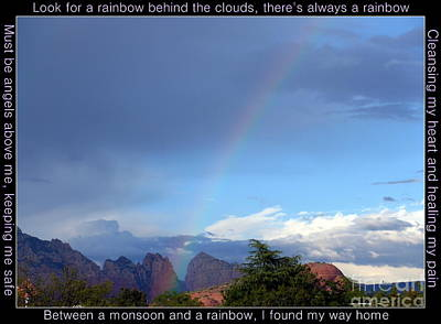 Photograph - Sedona Rainbow Monsoon by Marlene Rose Besso