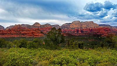 Albert Bierstadt - Sedona Red Rock Mountains by Martin Massari
