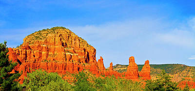 Photograph - Sedona Red Rocks - Panorama by Bill Barber