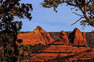 Mark Myhaver Rights Managed Images - Sedona Red Rocks op22 Royalty-Free Image by Mark Myhaver