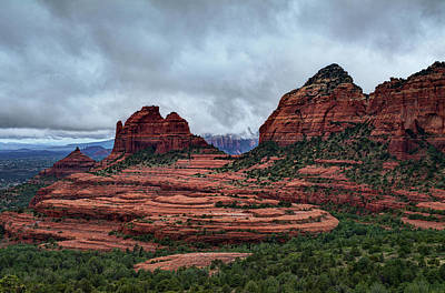 Photograph - Sedona Red Rocks Rain  by Saija  Lehtonen