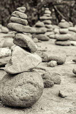 Sedona Rock Cairn Art Print by Colin D Young