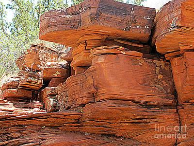 Photograph - Sedona Rocks by Julia Stubbe