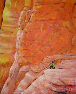 Painting - Sedona Rocks by Shirley Wellstead
