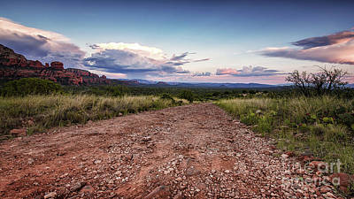 Photograph - Sedona Schnebly Hill Road At Sunset by Alissa Beth Photography