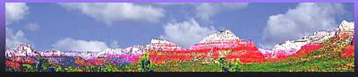 Painting - Sedona Snow by Martin Hardy
