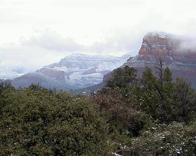 Photograph - Sedona Snows by Carolyn Jacob