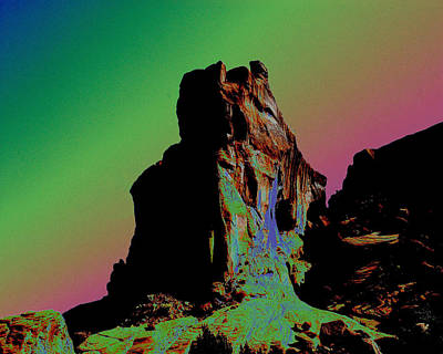 Sedona Solarized Art Print by Barry Shaffer