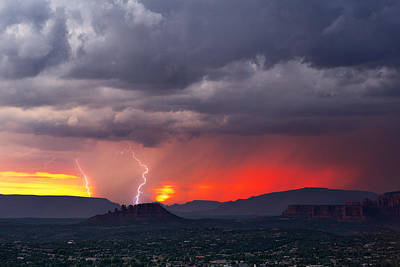 Lightning Photograph - Sedona Splendor by John Sirlin