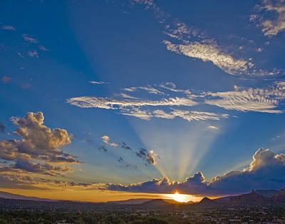 Photograph - Sedona Sunset 1 by Joel Gilgoff