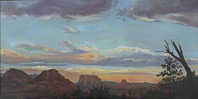 Edward Williams Painting - Sedona Sunset Az by Edward Williams