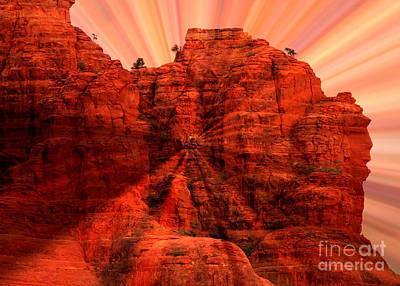 Sunset Abstract Photograph - Sedona Sunset Energy - Abstract Art by Carol Groenen