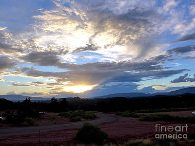 Sedona Sunset Sky Art Print by Marlene Rose Besso