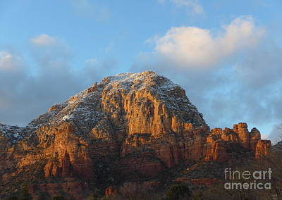 Photograph - Sedona Thunder Mountain Winter Majesty by Marlene Rose Besso