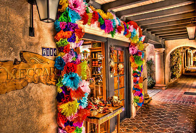 Tlaquepaque Photograph - Sedona Tlaquepaque Shopping Center  by Jon Berghoff