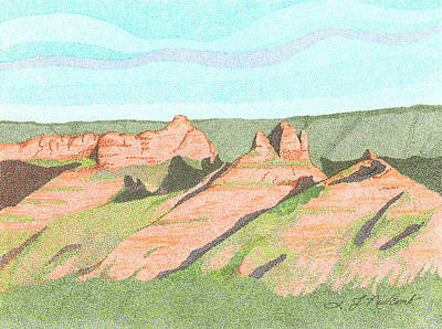 Sedona Too Art Print by Judy Cheryl Newcomb