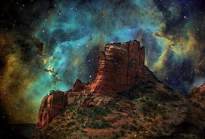 Sedona Vortex Galaxy Art Print by Barbara Chichester