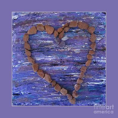 Photograph - Sedona Vortex Heart Red Rocks by Marlene Rose Besso