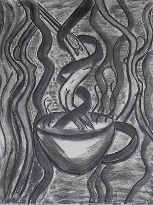 Food And Drink Drawing - Seduction by Marsha Ferguson
