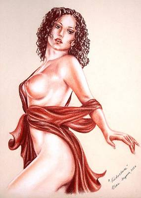 Seductrice Art Print by Vera Sayous