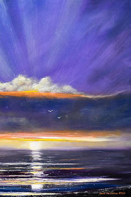 Painting - See Breeze - Vertical Sunset 1 by Gina De Gorna