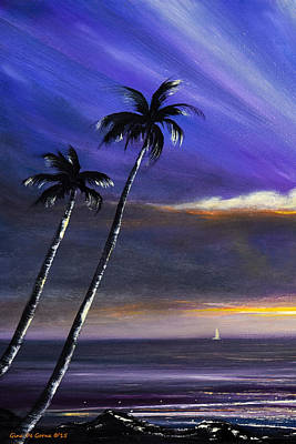 Painting - See Breeze - Vertical Sunset 2 by Gina De Gorna
