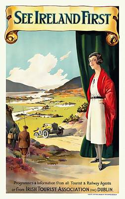 Mixed Media - See Ireland First - Restored by Vintage Advertising Posters