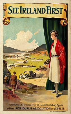 Mixed Media - See Ireland First - Vintagelized by Vintage Advertising Posters