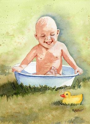 Basin Painting - See My Toes by Marsha Elliott